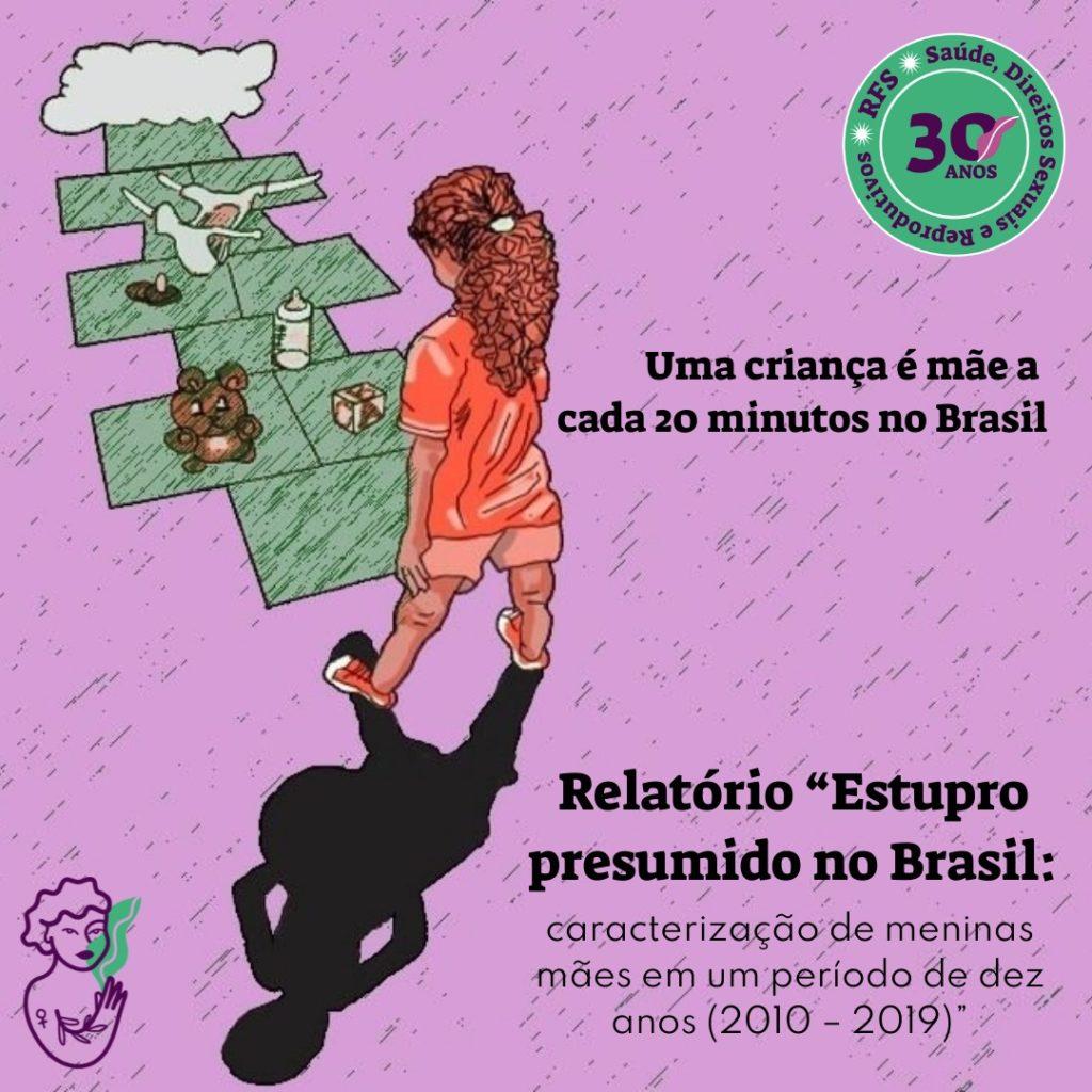 Estudo da Rede Feminista de Saúde mapeou o perfil das menina que são mães, com idade entre 10 e 14 anos, no Brasil entre 2010 e 2019.